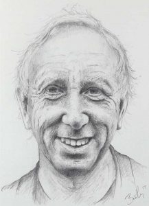 Anthony Cline   Study for oil painting Pencil on paper 22 x 17 cm