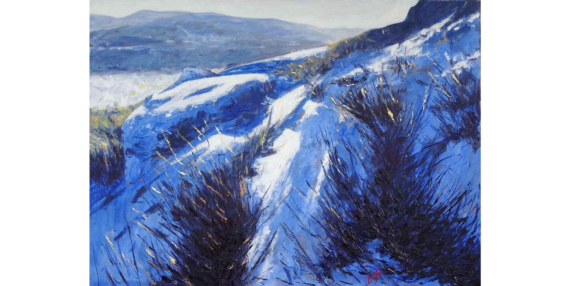 Snow on Bellever Tor, Dartmoor