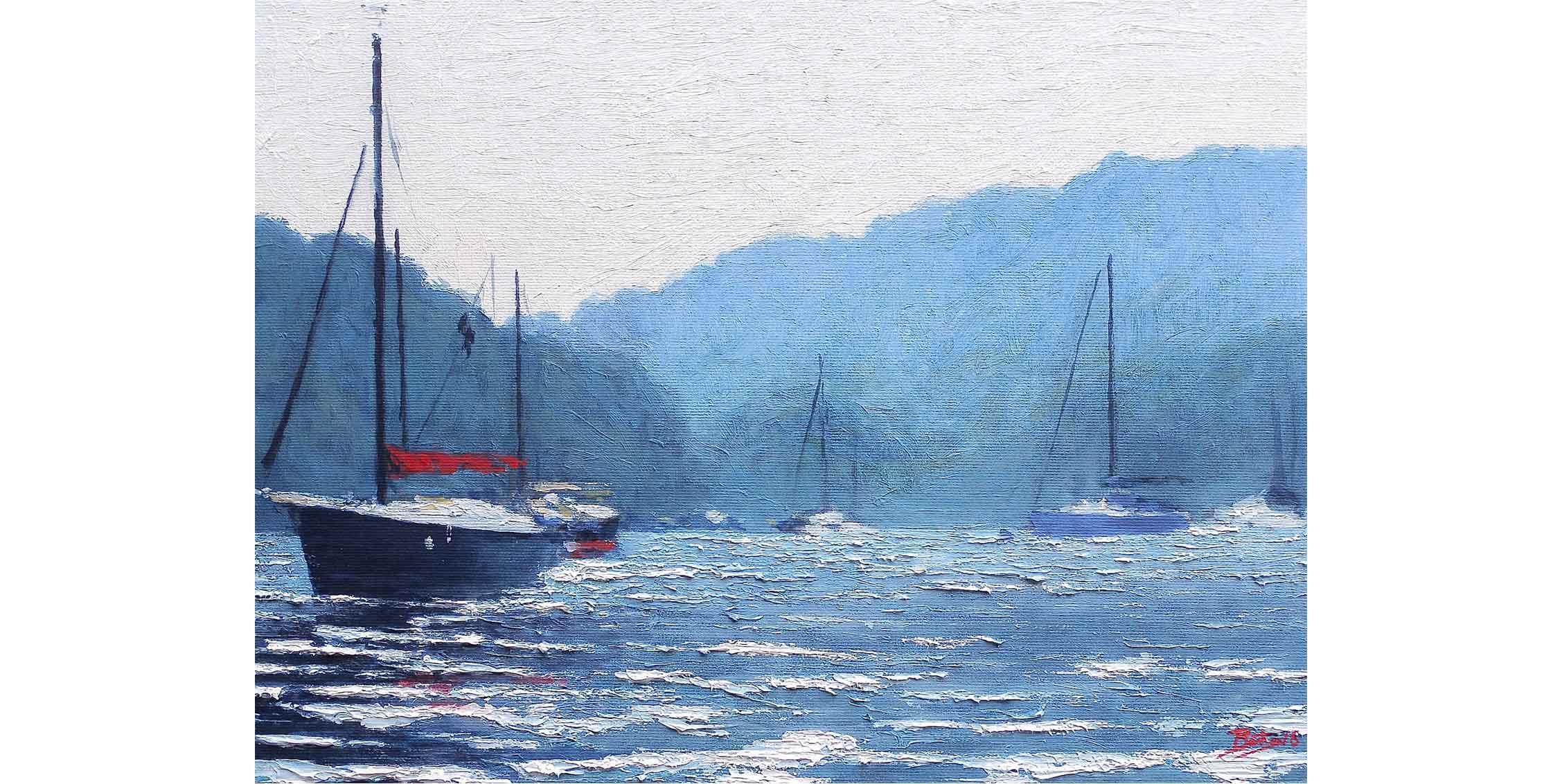 Boats on the Dart Estuary, Number 3, Devon