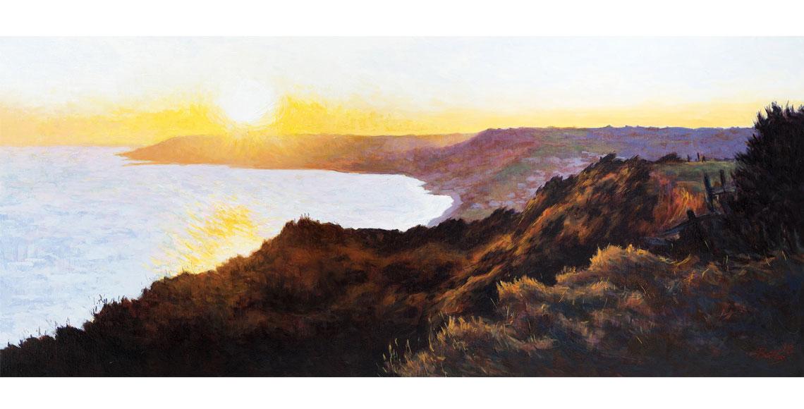 Sunset over Lyme Regis